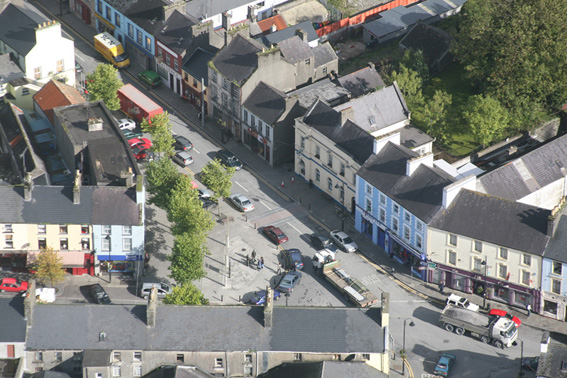 a Ariel of Ballyhaunis - The Square.JPG